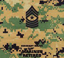 USMC E9 SgtMaj Retired Woodland by Sinubis