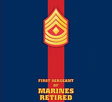 USMC E8 1stSgt Retired Blood Stripe by Sinubis