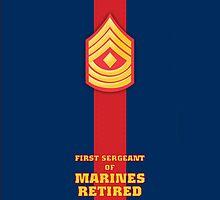 USMC E8 1stSgt Retired Blood Stripe by Sinubis