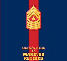 USMC E9 SgtMaj Retired Blood Stripe by Sinubis