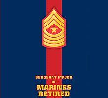 USMC E9 SgtMaj Retired Blood Stripe by Sinubis