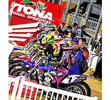 supercross starting gate Photographic Print
