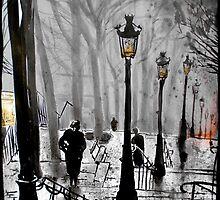 lamps of Paris by Loui  Jover