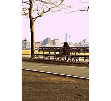 the bench of somber thoughts Photographic Print
