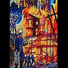 Fire Mosaic iPhone Case by Ron Hannah