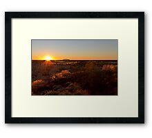 Sunrise at Ayers Rock Uluru Framed Print