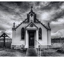 Italian Chapel Black and White Version by Fraser Ross