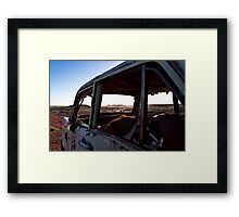 Coober Pedy Wreck Framed Print
