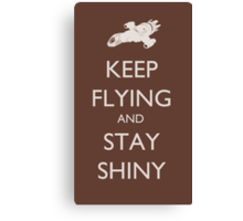 Stay Shiny Canvas Print