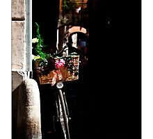 La bicicletta accanto al muro by Enrico Martinuzzi