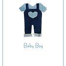 Baby boy card by Gillian Cross