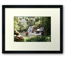 Waterfall at Mirage las vegas Framed Print