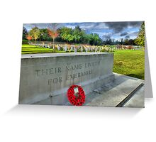 Their Name Liveth For Evermore - HDR Greeting Card