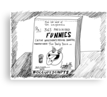 Occupy Scripts editorial cartoon Canvas Print