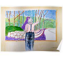 Hockney at Work Poster