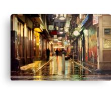 Wanker Lane, in the Rain Metal Print