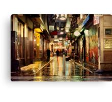 Wanker Lane, in the Rain Canvas Print