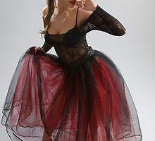 Beautiful girl in diaphanous dress by fotorobs
