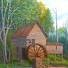 Loudermilk Gristmill in Habersham County Georgia by Vivian Eagleson