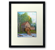 Loudermilk Gristmill in Habersham County Georgia Framed Print