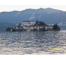 IL LAGO D'ORTA - ISOLA DI SAN  GIULIO - ITALY- EUROPA- 4500 visualizz.settembre 2013 -featured in italy 500+ & RB EXPLORE 14 NOVEMBRE 2011 --- Photographic Print