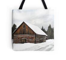 Pioneer Barn - Winter Tote Bag
