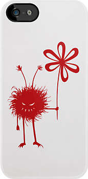 Red Evil Flower Bug IPhone Case by Boriana Giormova