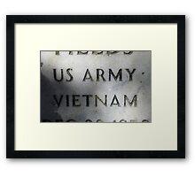'Nam Memorial Framed Print