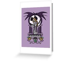 Nightmare Nouveau Print Greeting Card