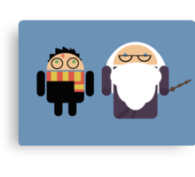 Harry Pottroid and Dumbledroid print Canvas Print