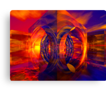 Sunset Behind the Mirrors Canvas Print