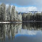 Serene Lake Panorama looking towards Castle Peak by David Galson