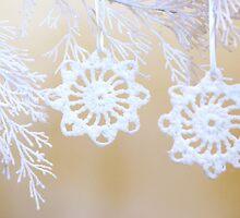 Two White Snowflakes by Anetka