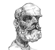 Sketch from Epstein Bust by burramys