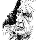 Sketch of John Berger by burramys