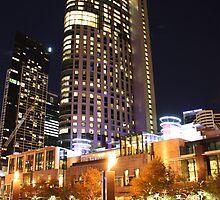 Melbourne Crown Casino by night by JoshZuker