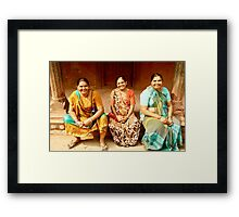 Three Ladies in Agra Framed Print