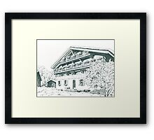 Chalet, French Alps Framed Print