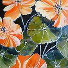 Nasturtiums 2 by Elizabeth Moore Golding