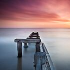 Old Jetty At Mentone by John Dekker