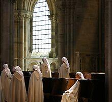 The Sitting Nun - Abbaye du Vézelay by Norman Dodds