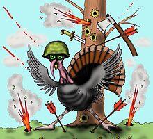Funny Thanksgiving turkey drawing by Vitaliy Gonikman