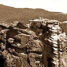 Beautiful mountain landscape from Meteora in Greece by queensoft