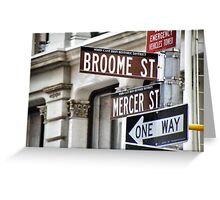 Broome and Mercer Greeting Card