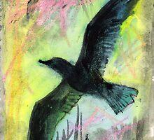 Birds soaring upwards by Visuddhi