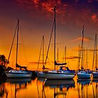 Cramond Harbour Sunset by Don Alexander Lumsden (Echo7)