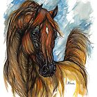 Arabian horse painting by tarantella