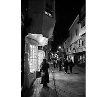 Night Shopping In York Photographic Print