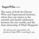 SuperWho, a Definition by h0rrid