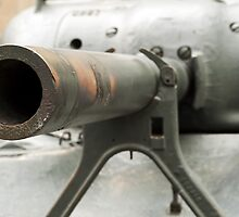 Tank cannon close up. by FER737NG